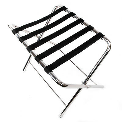 Foldable Luggage Rack Storage Home Hotel Travel Standing Holding Heavy Duty