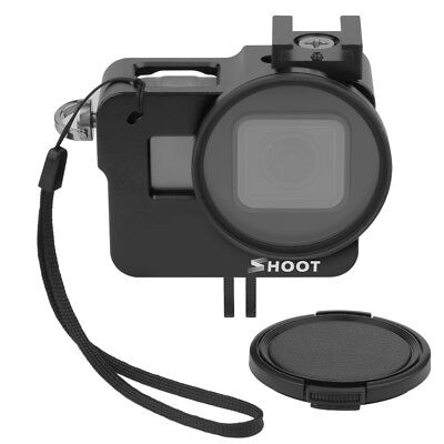 SHOOT Protective Camera Cage Housing Case+52mm UV Filter for GoPro Hero 7 Black