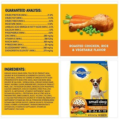 Pedigree Small Breed Adult Dry Dog Food Standard Packaging Chicken