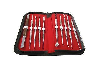 Original New Dental Lab Instrument Stainless Steel Kit Wax Carving Tool Set hnm