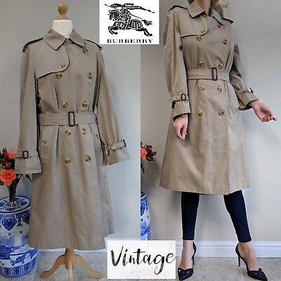 Trench Eur 45 Size Vintage Burberrys Coat Lined 14 Check Ladies 7gI8wgqa