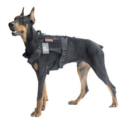 Dog Harness Vest for Walking Hiking Hunting Tactical Military Water-Resistant