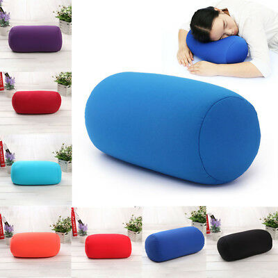 US Micro bead Roll Car Cushion Neck Head Leg Back Support Light Travel Pillow
