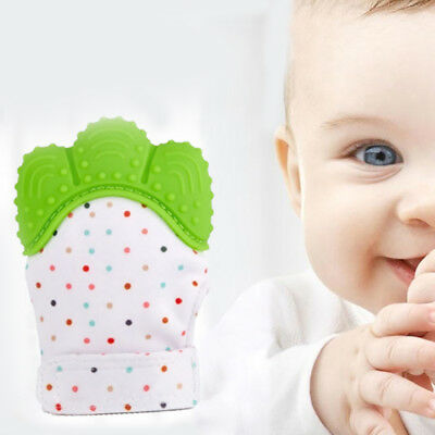 1 Pcs Food Grade Silicone Baby Teether Toys Teething Mitten Molar Gloves New