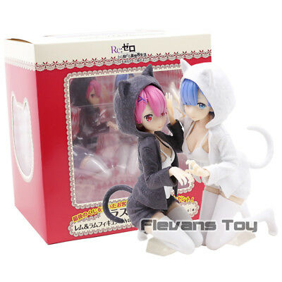 RE:ZERO - SET 2 FIGURAS / REM & RAM / 2 FIGURES SET 12cm (NYANKO MODE VERSION)