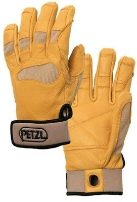 Petzl Cordex PLUS Belay Rappel Gloves Working Hand Protection Climbing (Tan)