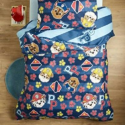 Paw Patrol Boys Single Bed Quilt Cover Marshall Chase Rubble Blue Mighty Pups