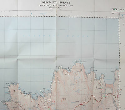 1950 OS Ordnance Survey 1:25000 First Series Provisional Map NC 76 Bettyhill