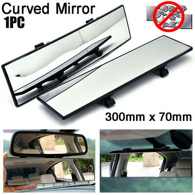 300mm Universal Car Truck Rear View Mirror Convex Curve Interior Wide Blind Spot