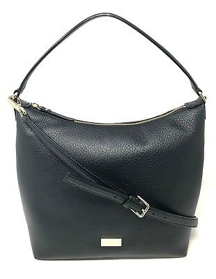 Kate Spade Prospect Place Kaia Black Leather Shoulder Bag Satchel WKRU4620   298 36f98461d6