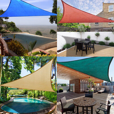 3.5/5m Triangle Sun Shade Sail Cover Outdoor Patio Awning Canopy Garden UV Block
