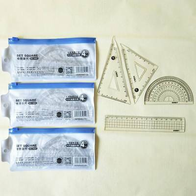 DIY Ruler Stainless Steel Scale Measuring Metric Tools Office Metal Angle Maths