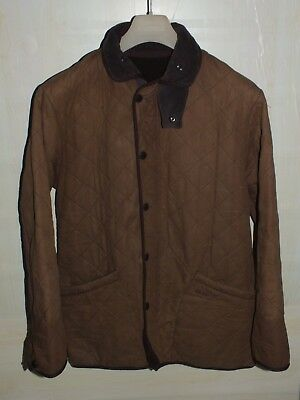 barbour polarquilt duracotton jacket brown giacca 100%authentic S