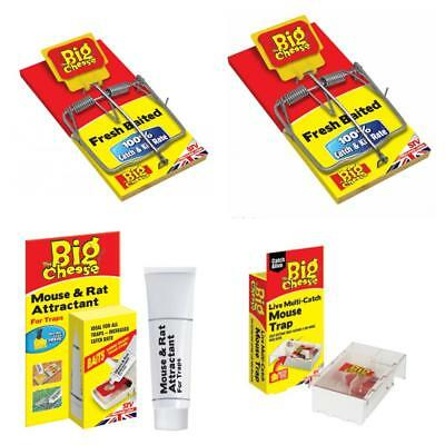 Big Cheese Mouse Rat Attractant Live Multi Catch Ready Baited Trap Mice STV Pest