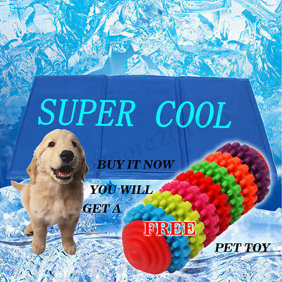 50x90CM XXL Pet Cool Gel Mat Dog Cat Bed Non-Toxic Cooling Dog Summer Pad + Gift