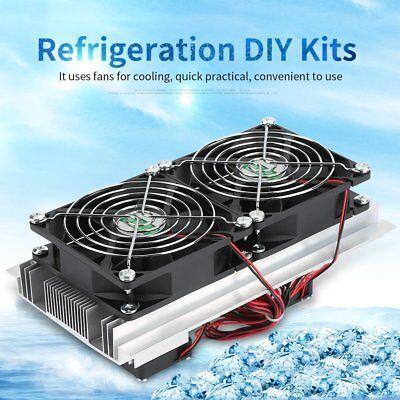 12V Thermoelectric Peltier Refrigeration Cooling System Kit Cooler W/2Fan