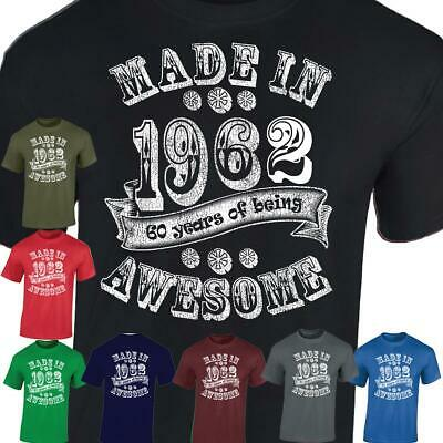 Made in 1959 Men Women 60th Birthday Gift Vintage Present Unisex Casual T-shirt