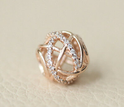 Authentic Pandora Rose Gold Collection Galaxy Openwork Charm Bead 781388CZ