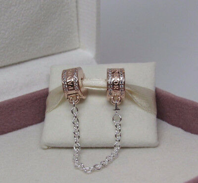 Authentic Pandora Rose Gold Collection Insignia Safety Chain 782057CZ-05CM