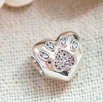 3df5e8237 Authentic Pandora Sterling Silver I Love My Pet Bead Charm Bead 791713CZ
