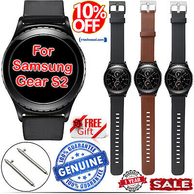 Genuine Leather Replacement Strap 20MM 22MM For Samsung Gear S2,S3 Classic Sport
