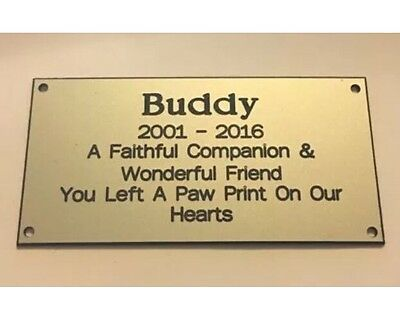 Pet Memorial Bench Plaque