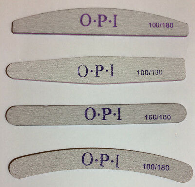 OPI Professional Nail files X4 100/180 Grit Acrylic, Manicures, Pedicures