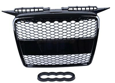 Audi A3 8P 8Pa 2005-2008 Rs Style Gloss Black Honeycomb Radiator Bumper Grille