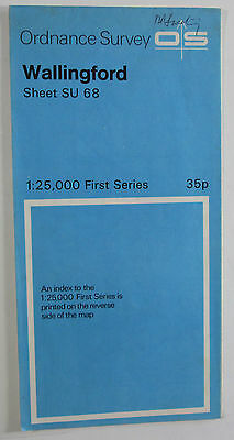 1960 Old Vintage OS Ordnance Survey 1:25000 First Series Map SU 66 Wallingford
