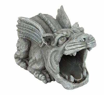 Design Toscano Statue Roland the Gargoyle Gutter Guardian Downspout Extension