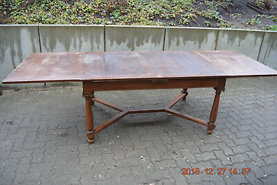 Gr. ausziehbarer Esstisch massiv Eiche um 1900 Extension table oak für 12 Person
