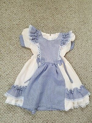 Vintage Abc Checkered Girls Size 5 Dress