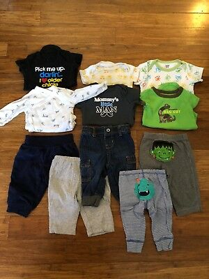 Baby Boy Clothes 3 Mo Lot Of 11 Jeans Onsies #6