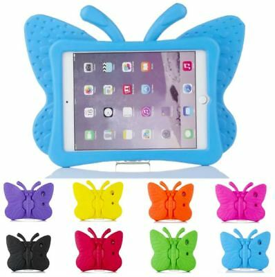 Children Kids Rubber Shockproof EVA foam Stand Case Cover Butterfly for iPad