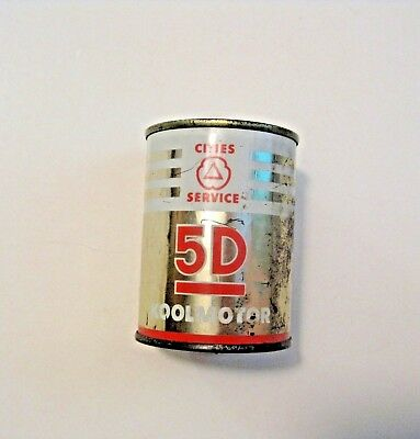 Vintage Cities Service 5D Gas & Oil Advertising Metal Oil Can Promotional Bank