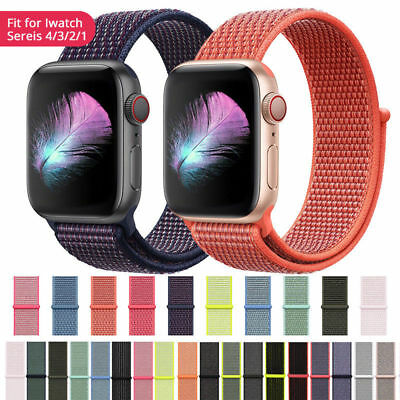 Woven Nylon Band for Apple Watch Sport Loop iWatch Series 4/3/2/1 38/40/42/44mm