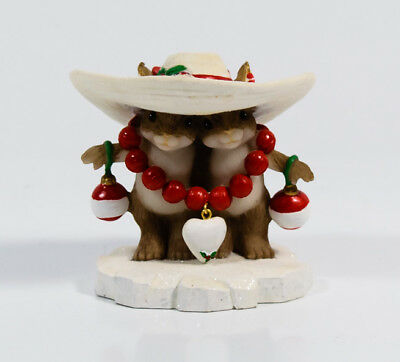 Charming Tails I Love Your Style Valentine Christmas Mouse Enesco 4023662 *