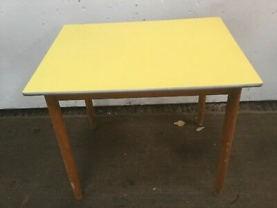 Vintage Small Retro Yellow Formica Dining Table
