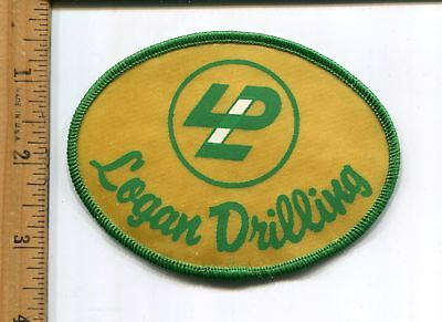 Logan  Drilling  Hat/Jacket Patch Vtg. Advertising