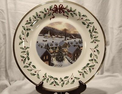 Lenox ~The Annual Holiday Collector Plate 2012 22nd in Series Made in USA