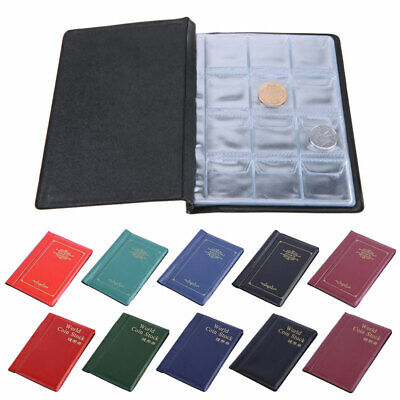 120 Album Coin Penny Money Storage Book Case Folder Holder Collection 2 Style UK