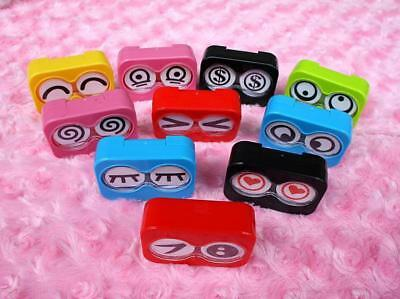 Cute Mini Travel Contact Lens Case Box Container Holder Eye Care Kit Mirror Box