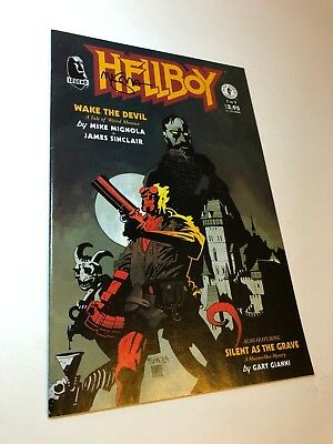 Hellboy Wake The Devil #1 SIGNED by Mike Mignola Creator VF