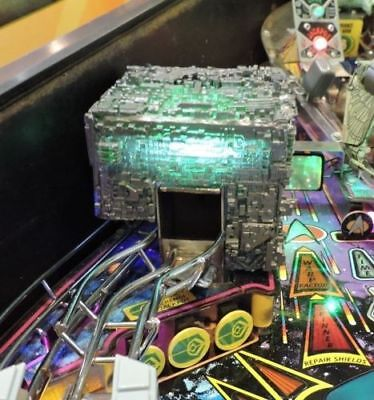 StarTrek: The Next Generation STTNG Pinball Mod- Small BORG CUBE over Steel, HQ!