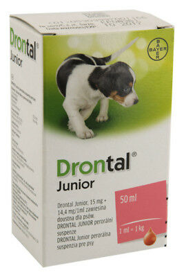 Drontal Junior wormer solution for puppies and young dogs de-worm anti worms