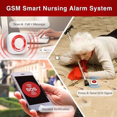GSM Smart Nursing SOS Call Alert Alarm System Wireless Caregiver Pager Receiver