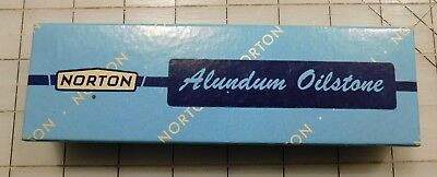 Vintage Early Norton Sharpening Alundum Oilstone In Box USA