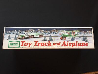2002 Hess Toy Truck and Airplane Collectible - Original Box - Never Displayed