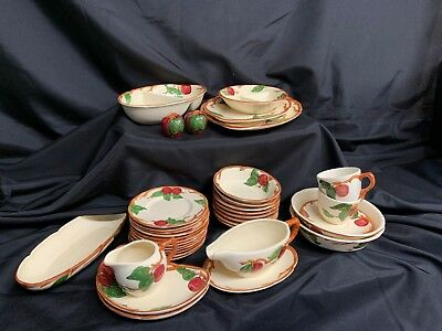 Franciscan Apple Dishes Dinnerware Dinner Serving Plates Bowls Cups +++