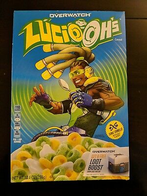 Overwatch Lucio-Ohs cereal 10.1 oz Loot Boost offer